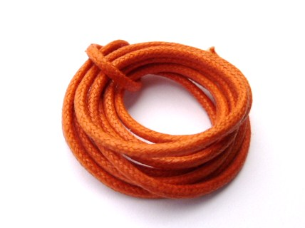 0.16 € Cordon Coton Ciré Orange Ø 2 mm