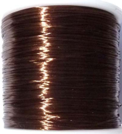 Elastique multi-brins Ø0.8mm de couleur marron