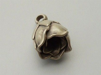 PPA20  Pampille Pendent Argent  925  Forme  Rose