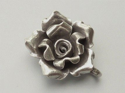 PPA21  Pampille Pendent Argent  925  Forme  Rose