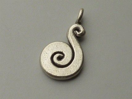 PPA31  Pampille Pendent Argent  925  Forme Serpent