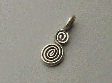 PPA32  Pampille Pendent Argent  925  Forme Petit Serpent