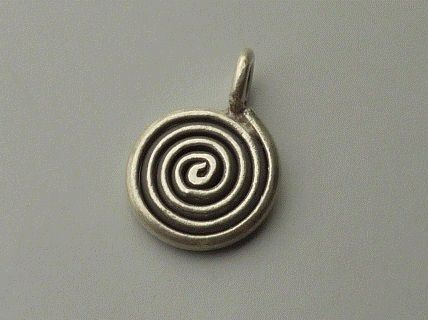 PPA34  Pampille Pendent  Argent 925  Forme Serpent Rond