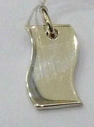 PPA60  Pendent Argent  925   Forme  rectangle S