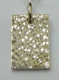 PPA61   Pendent Argent  925  Forme rectangle martelé