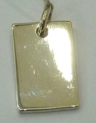 PPA64  Pendent Argent  925  Forme rectangle