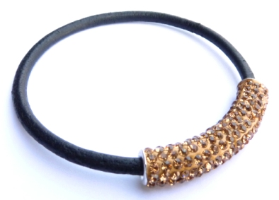 PMCH14 Tube Style Shamballa Beige Or