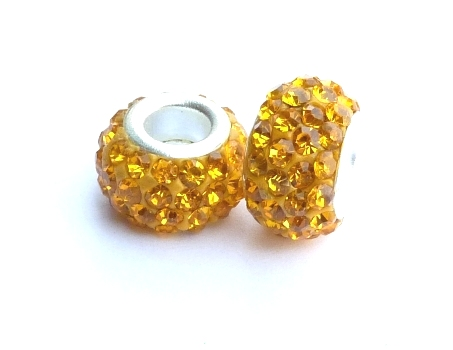 PMCH29 Perle Strass  Jaune or