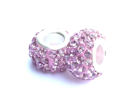PMCH34 Perle Strass  Rose Tourmaline