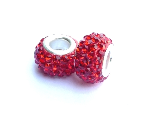 PMCH36 Perle Strass  Rouge