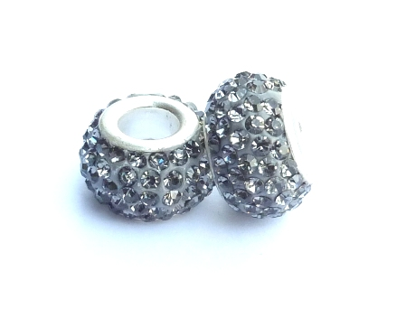 PMCH40 Perle Strass  Gris